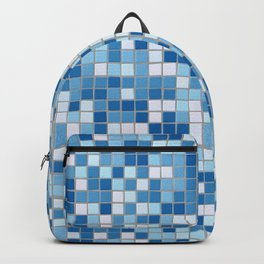 Blue Pool Squares Backpack