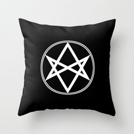 Men of Letters Symbol White Throw Pillow