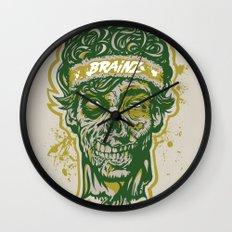 Brainz Zombie Print Wall Clock