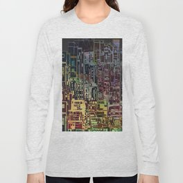 Where Are YOU -4 / Urban Density Long Sleeve T-shirt