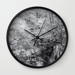 North Fork Silver Creek bw Wall Clock
