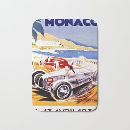 Vintage 1936 Monaco Grand Prix Racing Wall Art Bath Mat