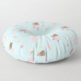 Sugar Plum Fairies Pattern Floor Pillow