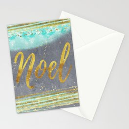 NOEL - Merry modern abstract christmas Stationery Cards
