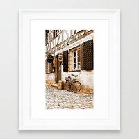 cycling Framed Art Prints featuring Cycling by Karl-Heinz Lüpke