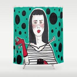 Asian Classic Lady (#2 Asian Smoker series) Shower Curtain