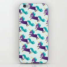 Violet unicorn iPhone & iPod Skin