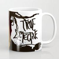 true detective Mugs featuring True Detective by Vito Fabrizio Brugnola