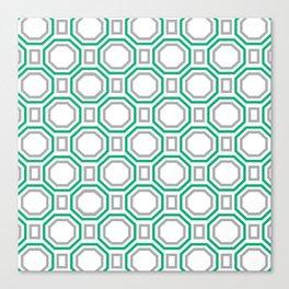 Green Harmony in Symmetry Canvas Print