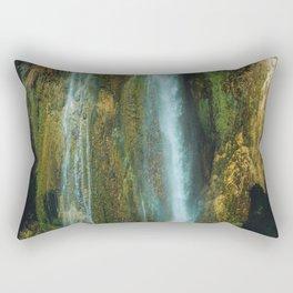 Tropical Waterfall | Fine Art Nature Photography | Wanderlust Art Print | Hidden waterfall Landscape, Travel Photography Art Print Rectangular Pillow