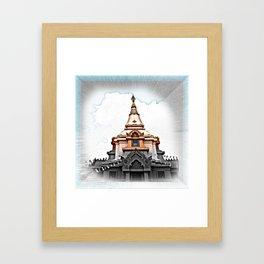 Pagoda monument reminisce of many good thinks Framed Art Print