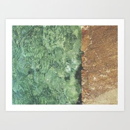 Sea contrast Art Print