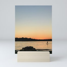 Paddleboarder at sunset | Annapolis, Maryland Mini Art Print