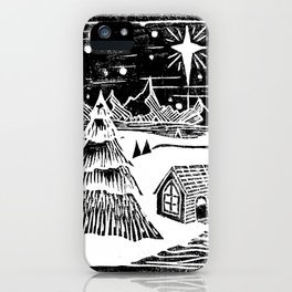 Snowy Christmas iPhone Case