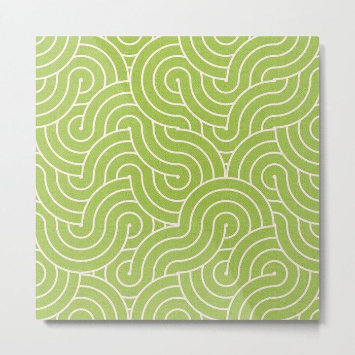 SWIRL / green tea Metal Print