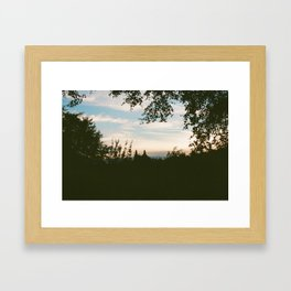 Kelvingrove Sunset Framed Art Print