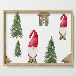 No Place Like Gnome Serving Tray