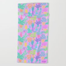 Plantasia Beach Towel