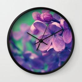 Lilacs Daydreams Wall Clock