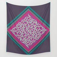 celtic Wall Tapestries featuring Celtic Jardincillo by Pamku