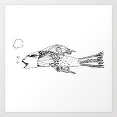 Fish, a fishy fish Art Print