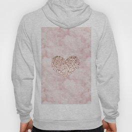 Rose gold - heart Hoody
