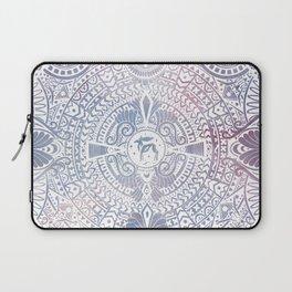 deer mandala (white) Laptop Sleeve