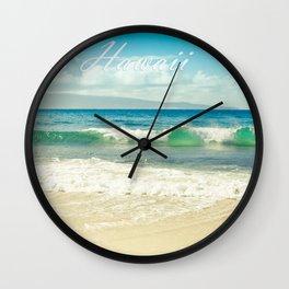 Hawaii Graphic Tropical Beach Decor Wall Clock