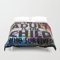 forever young Duvet Covers featuring Forever Young by Eternal