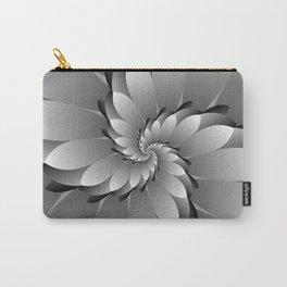 3D Black & Grey Spiral Art Carry-All Pouch