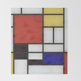 Piet Mondrian Throw Blanket