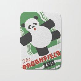 Panda - Vintage Zoo Travel Poster Bath Mat