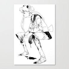 Brawler Sailor Moon - Sketch Canvas Print