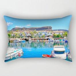 Puerto de Mogan port Rectangular Pillow