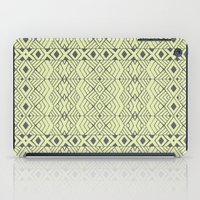 lime green iPad Cases featuring Lime Green Aztec by Pom Graphic Design