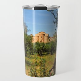 Italy, olive trees and an ancient abbey Travel Mug