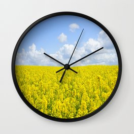 field of rapeseeds Wall Clock