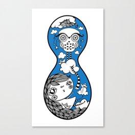 Polypop Owl Canvas Print