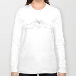 Hand Heart Long Sleeve T-shirt