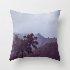 Misty Mountains - Kauai, Hawaii Throw Pillow