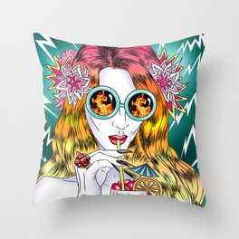 Beach Frenzy Throw Pillow