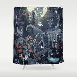 Jack Skellington Shower Curtains