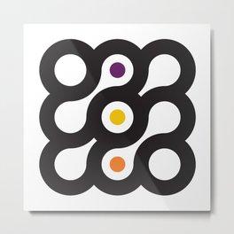 Circles 3x3 #6 Metal Print