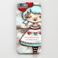 Made with Love - Heart String Tugger iPhone 6s Slim Case