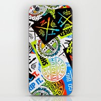 sticker iPhone & iPod Skins featuring Sticker Collage by Chris Klemens