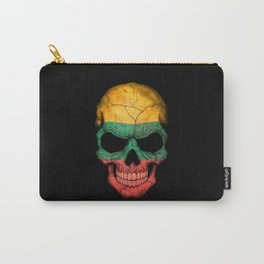 Dark Skull with Flag of Lithuania Carry-All Pouch