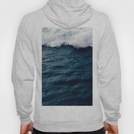 Deep Blue Ocean Wave Hoody