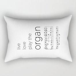 Live, love, play the organ Rectangular Pillow