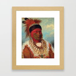 The White Cloud, Head Chief of the Iowas by George Catlin Framed Art Print