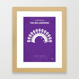 No010 My Big Lebowski MMP Framed Art Print